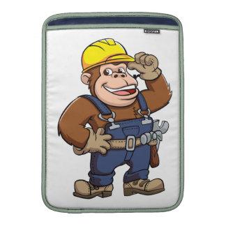 Cartoon of a Gorilla Handyman Sleeves For MacBook Air