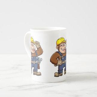 Cartoon of a Gorilla Handyman Tea Cup