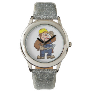 Cartoon of a Gorilla Handyman Wristwatch