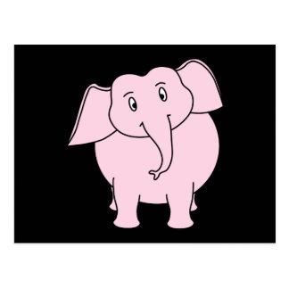 Cartoon of a Pink Elephant Postcard