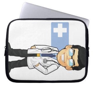 Cartoon of Doctor Laptop Sleeve