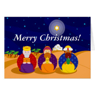 "Cartoon of ""The Three Kings"" / ""Three Wise Men"", Card"