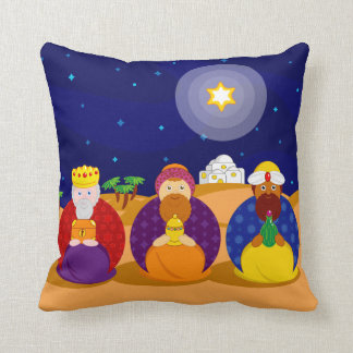 "Cartoon of ""The Three Kings"" / ""Three Wise Men"", Cushion"