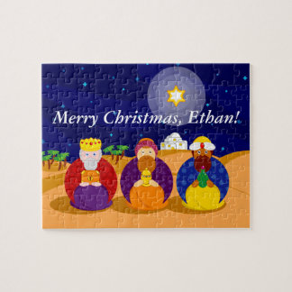 "Cartoon of ""The Three Kings"" / ""Three Wise Men"", Jigsaw Puzzle"