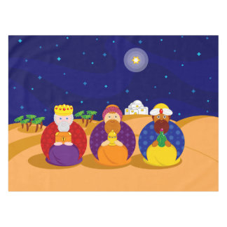 """Cartoon of """"The Three Kings"""" / """"Three Wise Men"""", Tablecloth"""