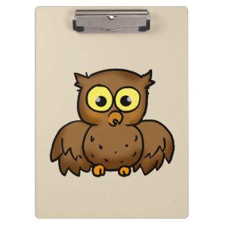 cartoon owl bird clipboard