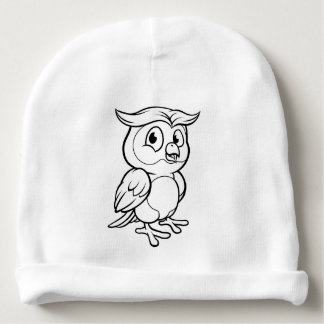 Cartoon Owl Character Baby Beanie