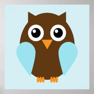 Cartoon Owl Children s Wall Art Posters