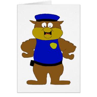 Cartoon Owl Cop Card