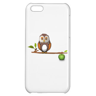 Cartoon Owl on Branch Case For iPhone 5C
