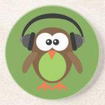 Cartoon Owl With Headphones