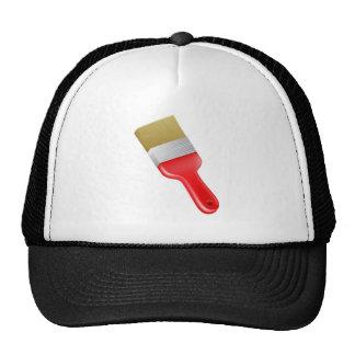 Cartoon paint brush trucker hats