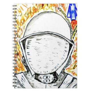 Cartoon Painted Astronaut2 Spiral Notebook