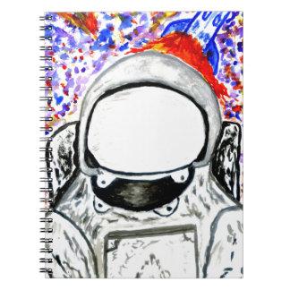 Cartoon Painted Astronaut Spiral Note Book
