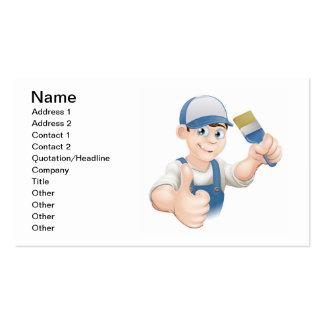 Cartoon painter decorator business card templates
