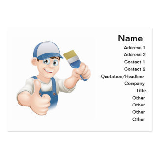 Cartoon painter decorator business cards