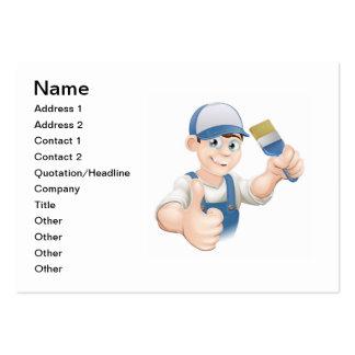 Cartoon painter decorator business card template