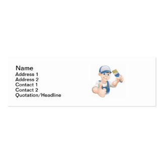 Cartoon painter decorator business card template