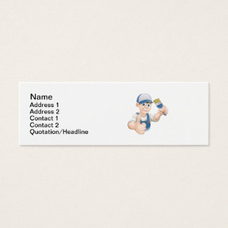 Cartoon painter decorator mini business card