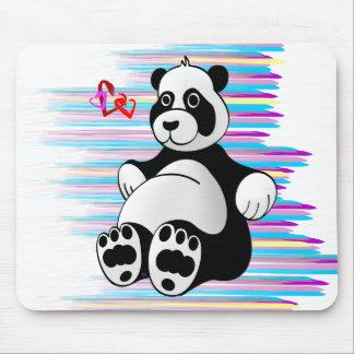 Cartoon Panda Bear Stuffed Animal Mouse Pad