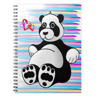 Cartoon Panda Bear Stuffed Animal Notebooks
