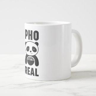 Cartoon Panda Pho Real White Mug for Foodies