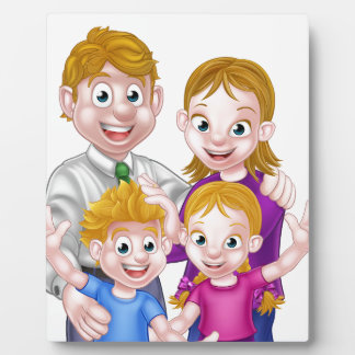 Cartoon Parents and Kids Plaque