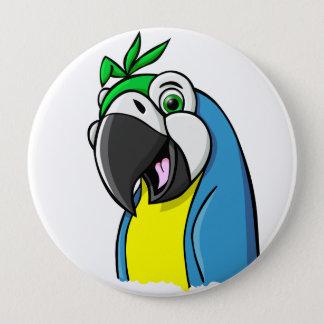 Cartoon Parrot 10 Cm Round Badge