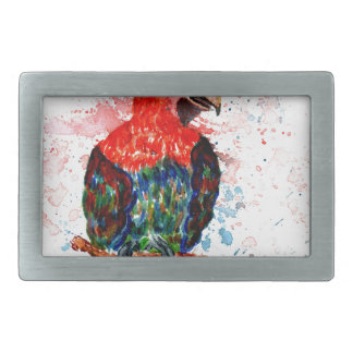 Cartoon Parrot Art01 Belt Buckle