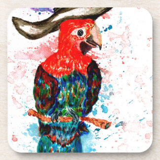 Cartoon Parrot Art01 Beverage Coasters