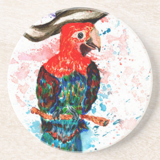 Cartoon Parrot Art01 Coaster