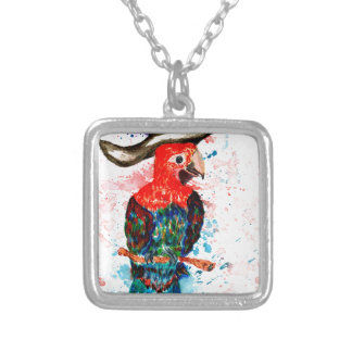 Cartoon Parrot Art01 Silver Plated Necklace