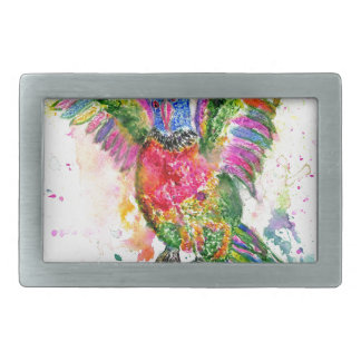 Cartoon Parrot Art03 Rectangular Belt Buckle