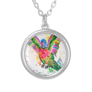 Cartoon Parrot Art03 Silver Plated Necklace