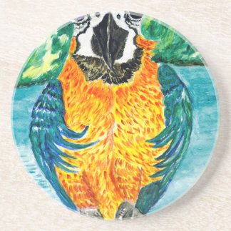 Cartoon Parrot Art2 Drink Coasters