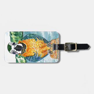 Cartoon Parrot Art2 Luggage Tag