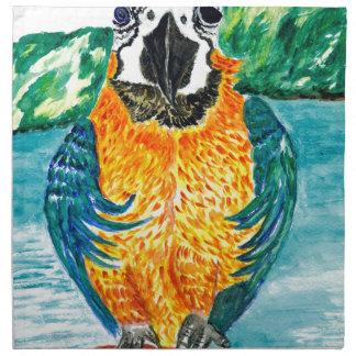 Cartoon Parrot Art2 Napkin