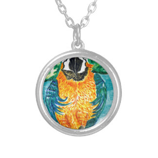 Cartoon Parrot Art2 Silver Plated Necklace