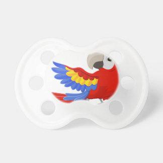 Cartoon Parrot Character Pacifiers