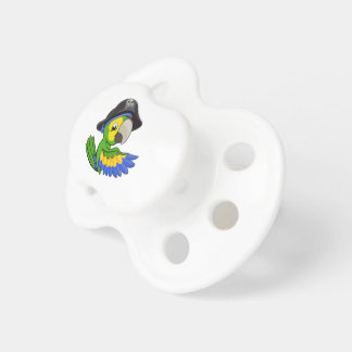 Cartoon Parrot in Pirate Hat Baby Pacifiers