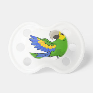 Cartoon Parrot Mascot Baby Pacifiers