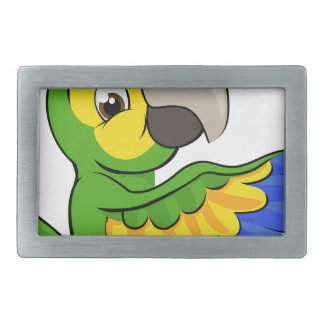 Cartoon Parrot Pointing Around Sign Belt Buckle
