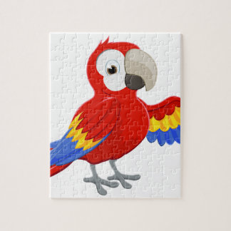 Cartoon Parrot Pointing Jigsaw Puzzle