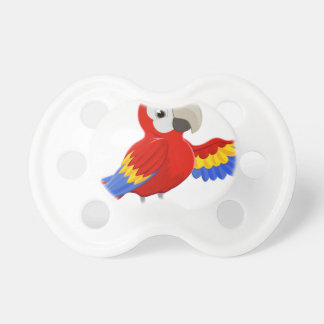 Cartoon Parrot Pointing Pacifier