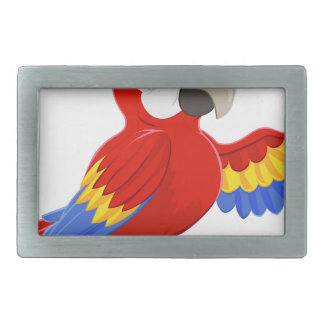 Cartoon Parrot Pointing Rectangular Belt Buckles