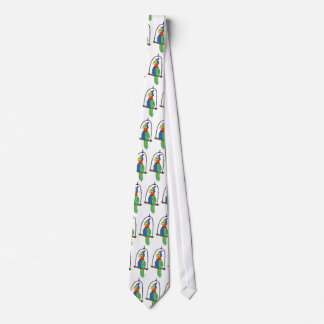Cartoon Parrot Tie