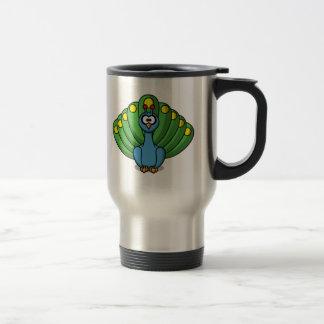Cartoon Peacock Coffee Mugs