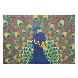 Cartoon Peacock Portrait Placemat