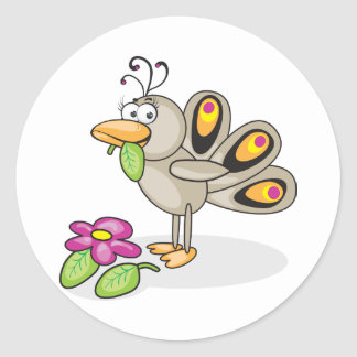 Cartoon Peacock Stickers