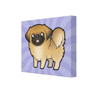 Cartoon Pekeingese (puppy cut) Canvas Print